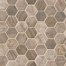 Driftwood Hexagon  - 12X12