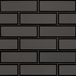 Metallic Gray Bevel Subway - 12X12