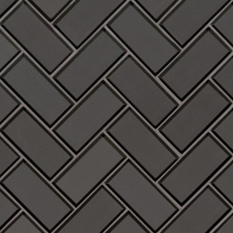 Metallic Gray Herringbone - 12X12