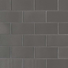 Metallic Gray Subway 2X4 - 12X12