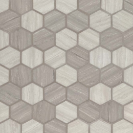 "Silva Oak 2"" Hexagon - 12X12"