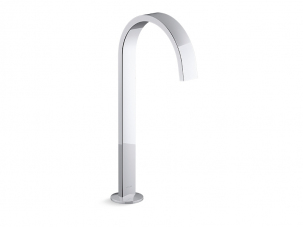 Components Bathroom Sink Spout With Ribbon Design-77966-CP