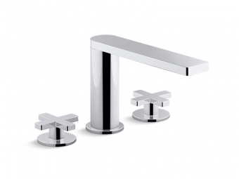 Composed Widespread Faucet With Cross Handles -73060-3-CP