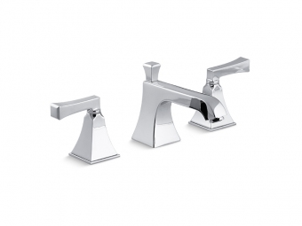 Memoirs Widespread Bathroom Faucet With Deco Lever Handles-454-4V-CP