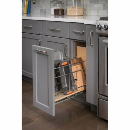 Base Cabinet Pull Out With Built In Tray Divider