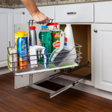 Cleaning Supply Caddy Pull Out With Handle
