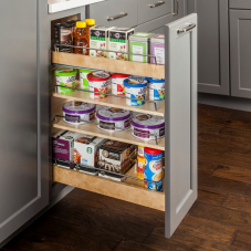 No Wiggle Base Cabinet Pull Out With Premium Soft Close Concealed Undermount Slides