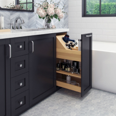 No Wiggle Vanity Height Cabinet Pull Out
