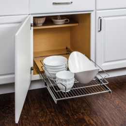 Polished Chrome Pull Out Basket