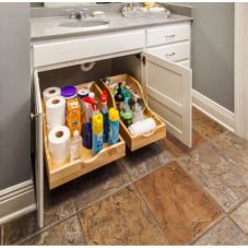 Preassembled Vanity Depth High Back Roll Out Drawer