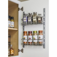 Deep Door Mounted Tray System Kit In Polished Chrome