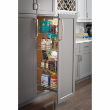 High Chrome Wire Pantry Pull Out With Heavy Duty Soft Close