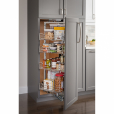 High Chrome Wire Pantry Pull Out With Swing Out Feature