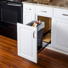 Black Single Pull Out Waste Container System