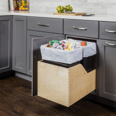Preassembled Double Pull Out Waste Container System