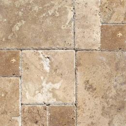 Tuscany Chateaux - Chiseled, Honed, Unfilled - 8X8 (4 pcs), 8X16 (2 pcs), 16X16 (4 pcs), 16X24 (2pcs) - Pattern