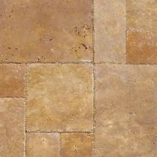 Tuscany Gold - Brushed, Chiseled, Honed, Unfilled - 8X8 (4 pcs), 8X16 (2 pcs), 16X16 (4 pcs), 16X24 (2pcs) - Pattern