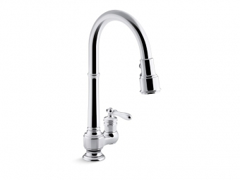 Artifacts Kitchen Faucet With Pull Down Spray-99260-CP