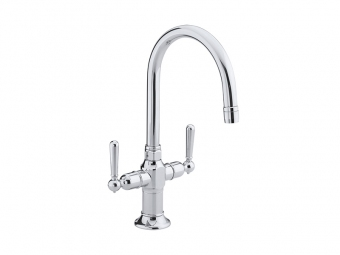 Hirise Stainless Bar Sink Faucet - 7342-4-S