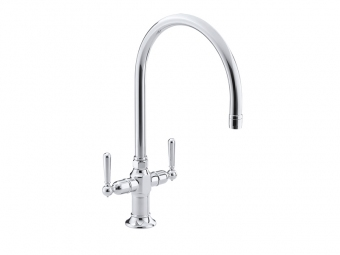 Hirise Stainless Kitchen Sink Faucet -7341-4-S