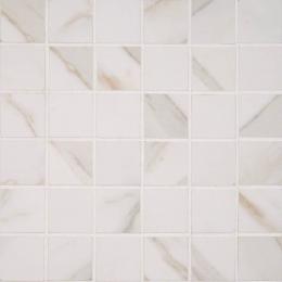 Pietra  Calacatta Mosaic - Glazed - Polished 2X2