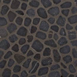 Black Marble Pebbles - Marble - Tumbled - 12X12