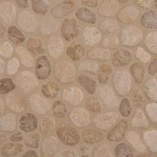 Travertine Blend Pebbles - Travertine - Tumbled - 12X12