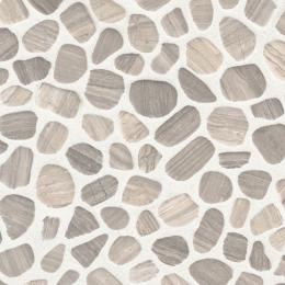 White Oak Pebbles - Marble - Tumbled - 12X12