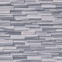 Alaska Gray 3D Honed - Marble - Panel - 6X24, Corner - 6X12X6, 6X18X6