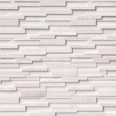 Arctic White 3D Honed - Marble - Panel - 6X24, Corner - 6X12X6, 6X18X6