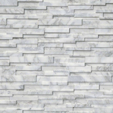 Calacatta Cressa 3D - Marble - Panel - 6X24, Corner - 6X12X6, 6X18X6