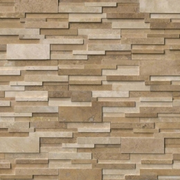 Casa Blend 3D Honed - Travertine - Panel - 6X24, Corner - 6X12X6, 6X18X6