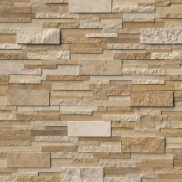 Casa Blend 3D Multi Finish - Travertine - Panel - 6X24, Corner - 6X12X6, 6X18X6
