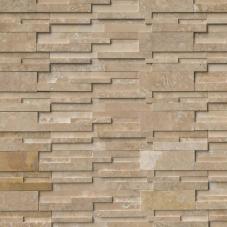 Durango Cream 3D Honed - Travertine - Panel - 6X24, Corner - 6X12X6, 6X18X6