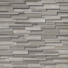 Gray Oak 3D Honed - Marble - Panel - 6X24, Corner - 6X12X6, 6X18X6