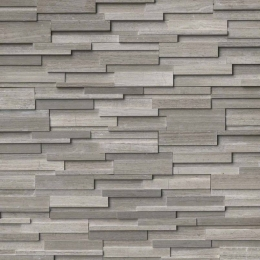 Gray Oak 3D Honed - Marble - Panel - 6X24, Corner - 6X12X6, 6X18X6