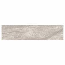 Gris Travertine Glossy Bullnose - Ceramic - Glossy - 4X16