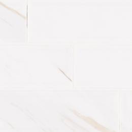 White Calacatta Glossy Beveled - Ceramic - Glossy - 4X16