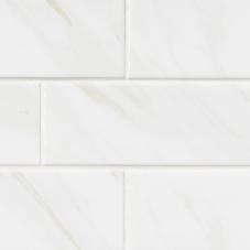 White Calacatta Glossy Bullnose - Ceramic - Glossy - 4X16