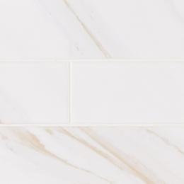 White Calacatta Glossy - Ceramic - Glossy - 4X16
