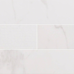 White Carrara Glossy Mix - Ceramic - Glossy - 4X16