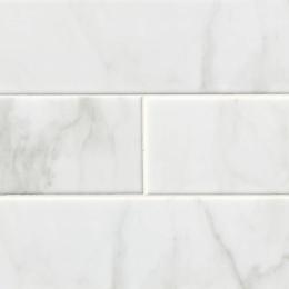 White Carrara Glossy - Ceramic - Glossy - 4X16