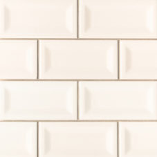 Almond Glossy Inverted Beveled - Ceramic - Glossy - 3X6