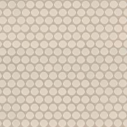 Almond Glossy Penny Round Mosaic - Porcelain - Glossy - 12X12
