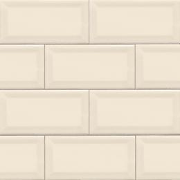 Almond Glossy Subway Beveled  - Ceramic - Glossy - 3X6