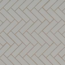 Gray Glossy Herringbone Mosaic - Porcelain - Glossy - 12X12