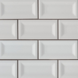 Gray Glossy Inverted Beveled - Ceramic - Glossy - 3X6
