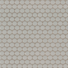 Gray Glossy Penny Round Mosaic - Porcelain - Glossy - 12X12