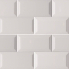 Gray Glossy Subway Beveled  - Ceramic - Glossy - 3X6