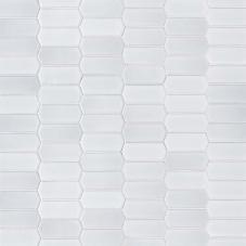 Retro Picket Bianco Glossy - Porcelain - Glossy - 12X12